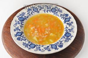 Геркулесовый суп готов.