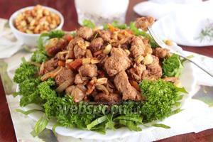 Тушёное соевое мясо в соевом соусе