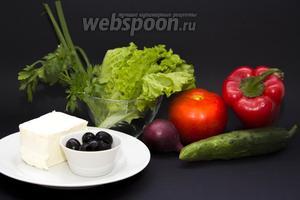 Промываем и просушиваем вафельными полотенцами все овощи и зелень. Луковицу стоит взять самую маленькую, какую найдёте, чтобы кольца были аккуратными и красивыми.