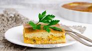 Фото рецепта Заливной пирог с рыбными консервами