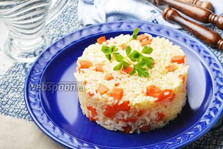 Морковь тушёная с рисом