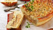 Фото рецепта Пирог с рыбными консервами и рисом