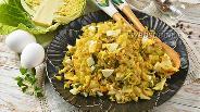 Фото рецепта Начинка для пирожков с капустой и яйцом