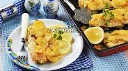 Фото рецепта Хек с картошкой в духовке