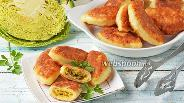 Фото рецепта Творожные пирожки с капустой жареные