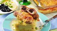 Фото рецепта Рулетики из свинины с черносливом и сыром