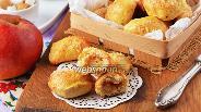 Фото рецепта Творожные пирожки с яблоками в духовке