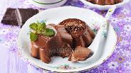 Фото рецепта Молочно-шоколадное желе