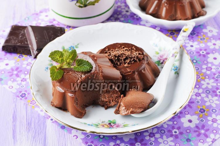 Фото Молочно-шоколадное желе