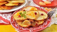 Фото рецепта Оладьи с мандаринами