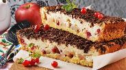 Фото рецепта Пирог с яблоками и клюквой