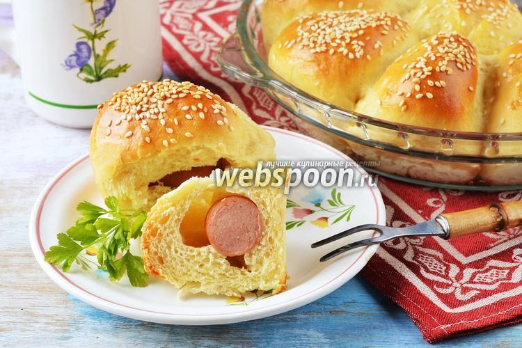 Фото Пирожки с сосиской в духовке