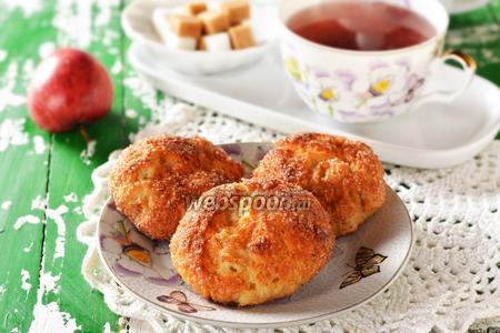 Творожно-яблочное печенье