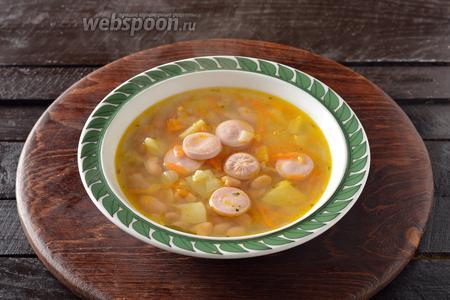 Суп готов к подаче.