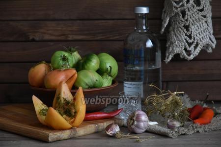 Зелёные помидоры солёные под бочковые