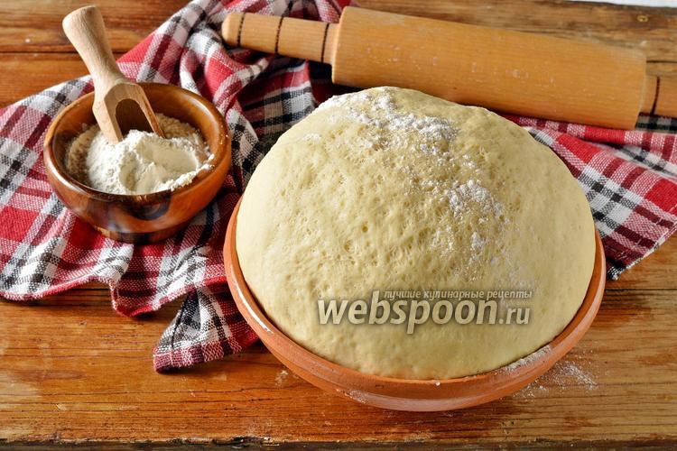 Фото Дрожжевое тесто на кипятке
