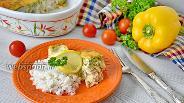 Фото рецепта Рыбная запеканка из трески в сметанно-яичной заливке