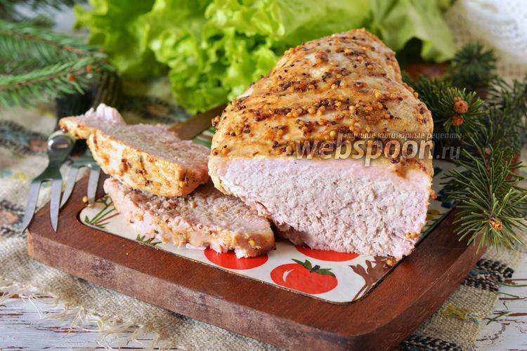 Рецепт Буженина с мёдом и горчицей