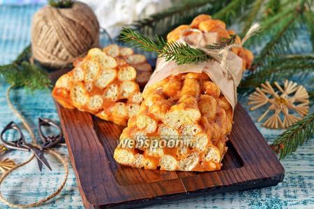Сладкая колбаса из кукурузных палочек