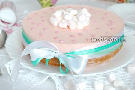 Фото рецепта Лимонный торт с маршмеллоу