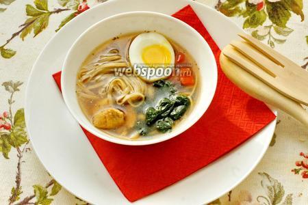Японский суп с гречневой лапшой