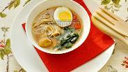 Фото рецепта Японский суп с гречневой лапшой