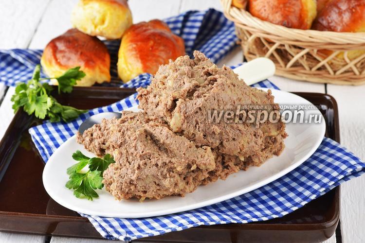 Фото Начинка для пирожков из печени и картошки
