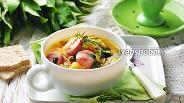 Фото рецепта Овощной суп с сосисками