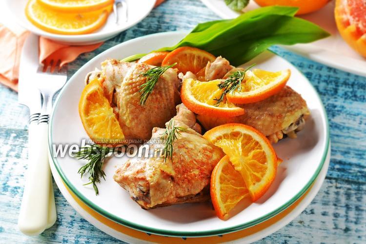 Фото Курица с апельсинами в мультиварке