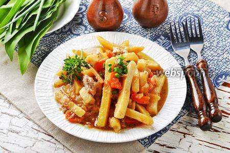 Картошка с тушёнкой в мультиварке