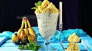 Фото рецепта Заварной крем с бананами