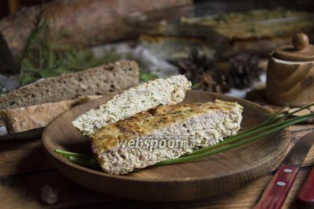 Мясной хлеб с картофелем
