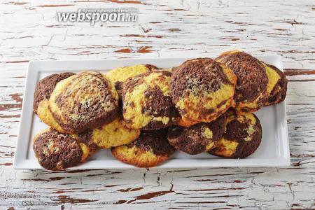 Мраморное печенье готово.