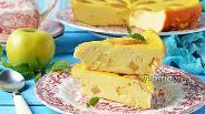 Фото рецепта Творожная запеканка с яблоками в мультиварке