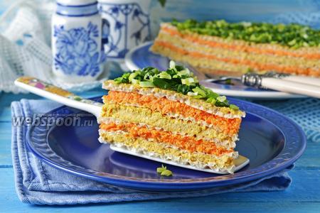 Вафельный торт с консервами