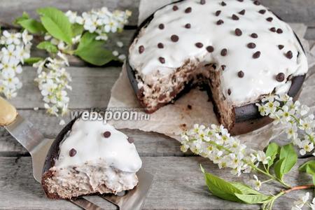 Черёмуховый пирог со сметаной