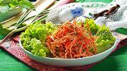 Фото рецепта Салат из ревеня, моркови и грецких орехов