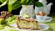Фото рецепта Пирог с ревенем и творогом