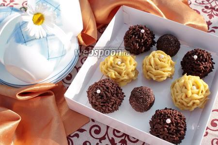 Фото рецепта Пирожные в микроволновке