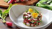 Фото рецепта Салат с ботвой редиски