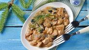 Фото рецепта Жульен в мультиварке с курицей и грибами