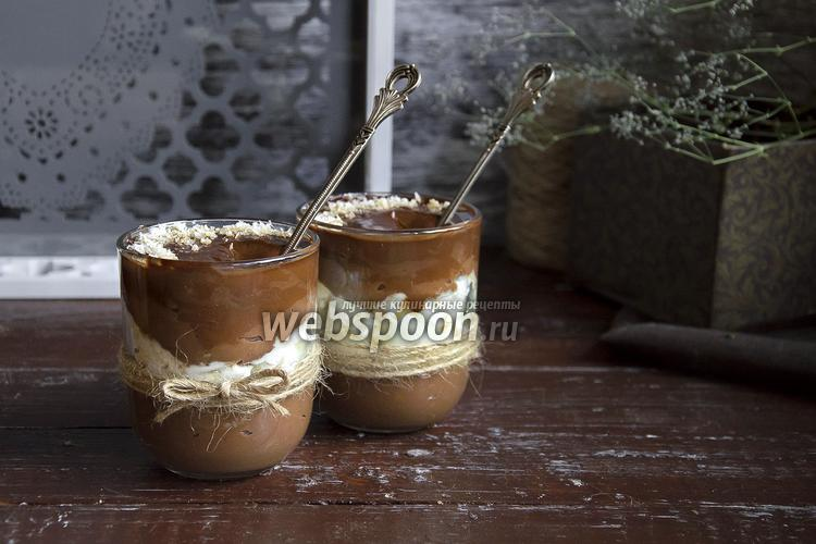 Фото Ванильно-шоколадный пудинг