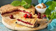 Фото рецепта Насыпной пирог с вишней