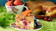 Фото рецепта Пирог с вишней и абрикосами