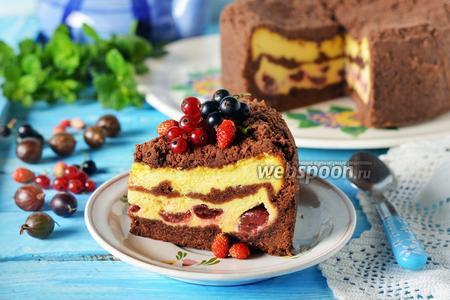 Пирог с крыжовником и творогом