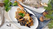 Фото рецепта Минтай с грибами в духовке