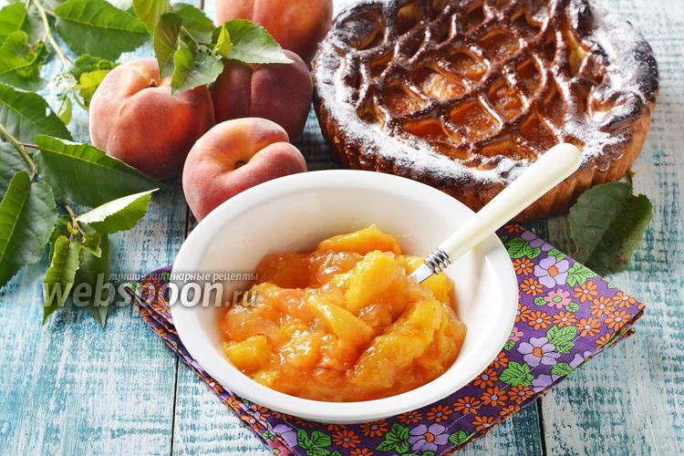 Фото Начинка из персиков для пирогов