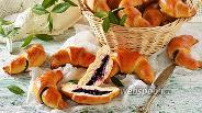Фото рецепта Рогалики с черникой