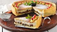Фото рецепта Пирог с черносливом и сметаной