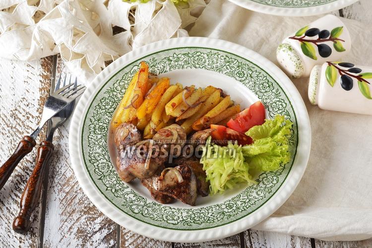 Фото Жареная картошка с печенью